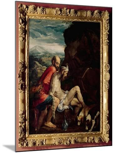 The Good Samaritan, c.1550-70-Jacopo Bassano-Mounted Giclee Print