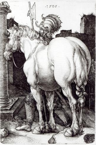 The Large Horse, 1505-Albrecht D?rer-Stretched Canvas Print