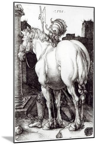 The Large Horse, 1505-Albrecht D?rer-Mounted Giclee Print