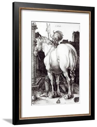 The Large Horse, 1505-Albrecht D?rer-Framed Art Print