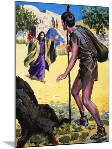 The Parable of the Prodigal Son--Mounted Giclee Print