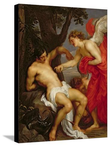 Saint Sebastian and the Angel-Sir Anthony Van Dyck-Stretched Canvas Print