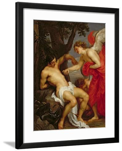 Saint Sebastian and the Angel-Sir Anthony Van Dyck-Framed Art Print