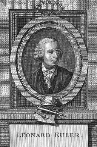 Portrait of Leonard Euler--Stretched Canvas Print