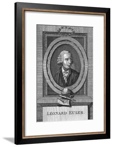 Portrait of Leonard Euler--Framed Art Print