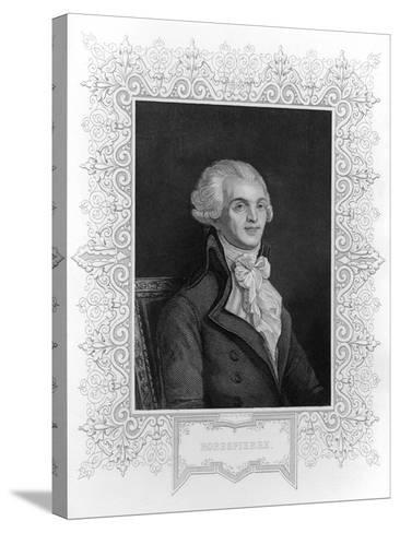 Portrait of Robespierre--Stretched Canvas Print