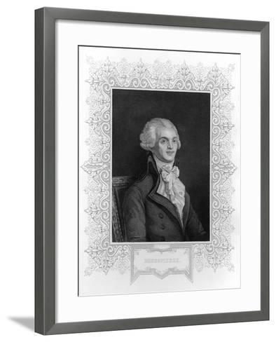 Portrait of Robespierre--Framed Art Print