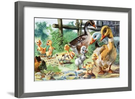 The Ugly Duckling--Framed Art Print