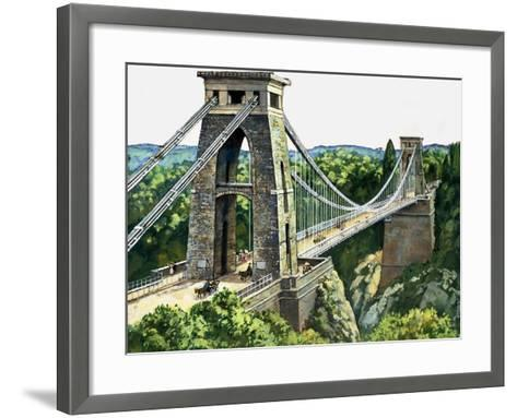 Clifton Suspension Bridge--Framed Art Print