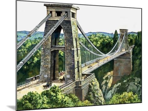 Clifton Suspension Bridge--Mounted Giclee Print
