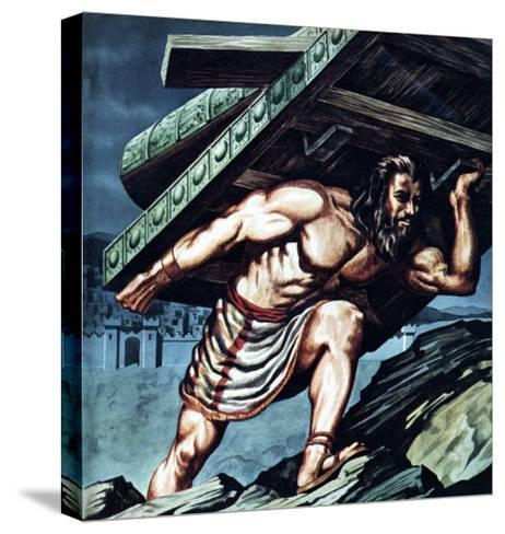Samson Carrying the Gate of Gaza--Stretched Canvas Print