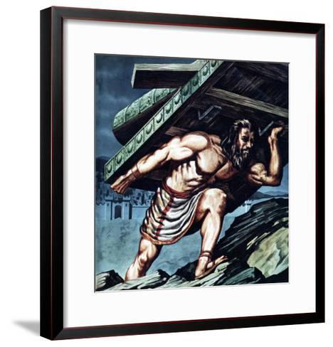 Samson Carrying the Gate of Gaza--Framed Art Print