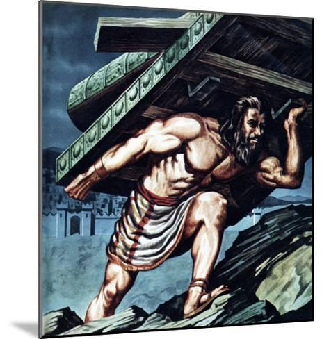 Samson Carrying the Gate of Gaza--Mounted Giclee Print
