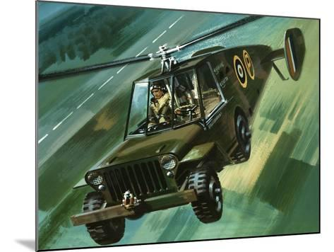 Into the Blue: The Flying Jeep-Wilf Hardy-Mounted Giclee Print