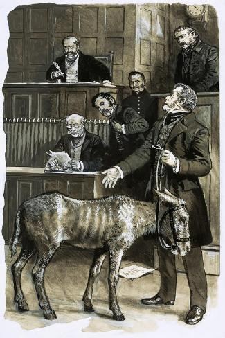 Richard Martin in Court with a Neglected Donkey-Clive Uptton-Stretched Canvas Print