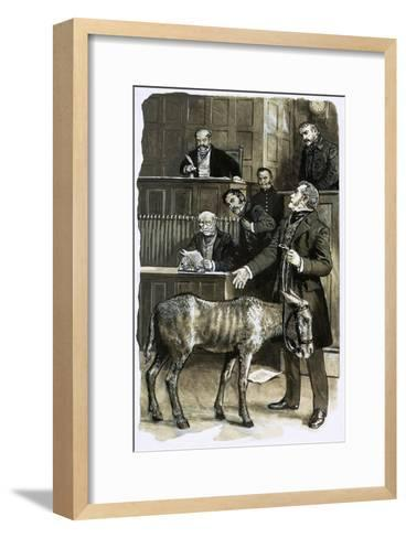 Richard Martin in Court with a Neglected Donkey-Clive Uptton-Framed Art Print