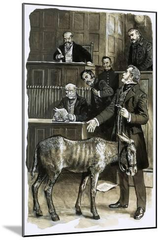 Richard Martin in Court with a Neglected Donkey-Clive Uptton-Mounted Giclee Print