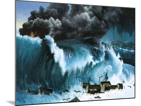 Tsunami Following Eruption of Krakatoa-Severino Baraldi-Mounted Giclee Print