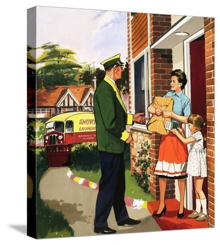 Laundry Delivery Service--Stretched Canvas Print
