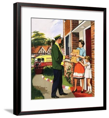 Laundry Delivery Service--Framed Art Print