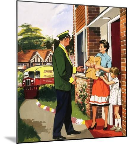 Laundry Delivery Service--Mounted Giclee Print