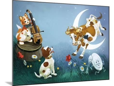 Hey Diddle Diddle--Mounted Giclee Print