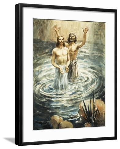 Christ Being Baptised by John the Baptist-Henry Coller-Framed Art Print