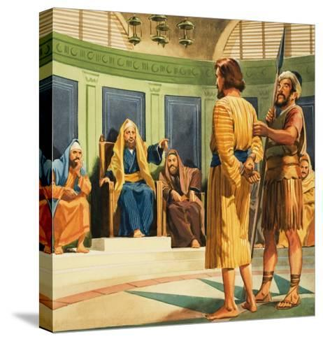 Christ Before Caiaphas--Stretched Canvas Print