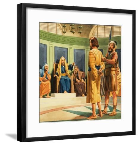 Christ Before Caiaphas--Framed Art Print