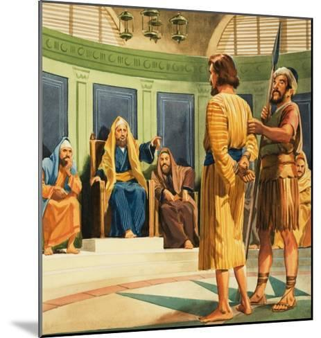 Christ Before Caiaphas--Mounted Giclee Print