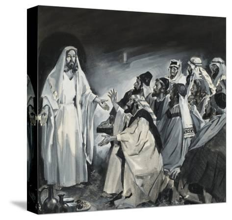Doubting Thomas, Seeing Christ After the Resurrection-James Edwin Mcconnell-Stretched Canvas Print