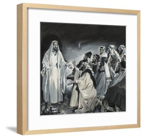 Doubting Thomas, Seeing Christ After the Resurrection-James Edwin Mcconnell-Framed Art Print