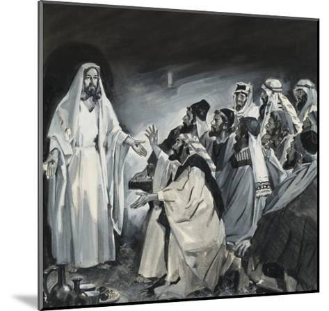 Doubting Thomas, Seeing Christ After the Resurrection-James Edwin Mcconnell-Mounted Giclee Print