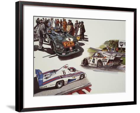 Racing Cars--Framed Art Print