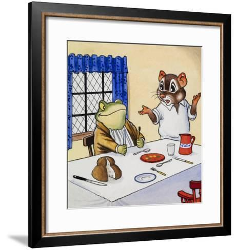 Mr Toad Waiting For His Food--Framed Art Print