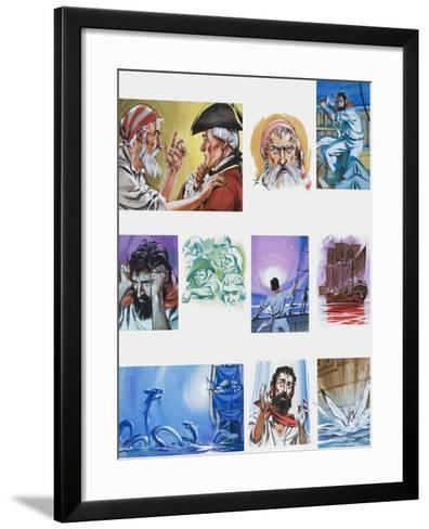 The Rime of the Ancient Mariner-Angus Mcbride-Framed Art Print