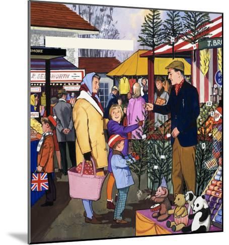 Market Trader--Mounted Giclee Print