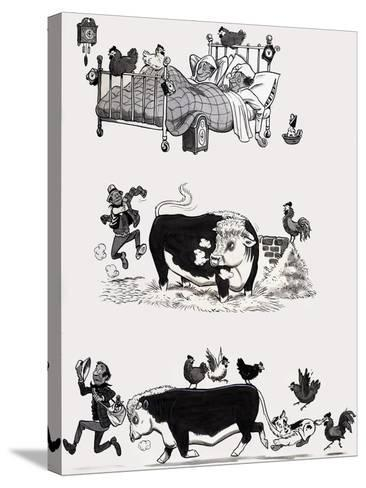 Nursery Rhyme Illustration--Stretched Canvas Print