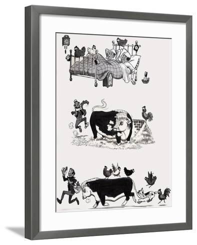 Nursery Rhyme Illustration--Framed Art Print