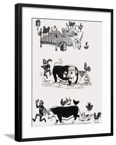 Nursery Rhyme Illustration--Framed Art Print