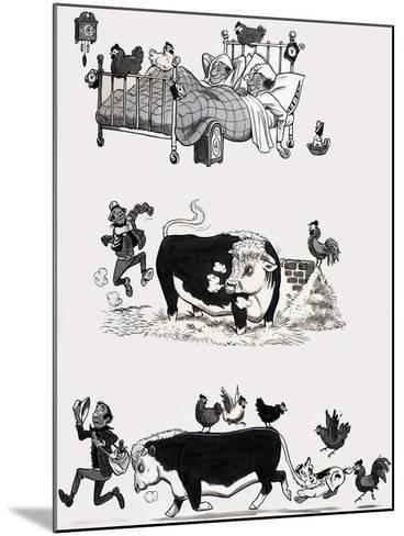 Nursery Rhyme Illustration--Mounted Giclee Print