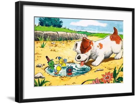Gregory Grasshopper-Gordon Hutchings-Framed Art Print
