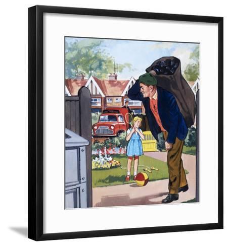 Coal Man--Framed Art Print