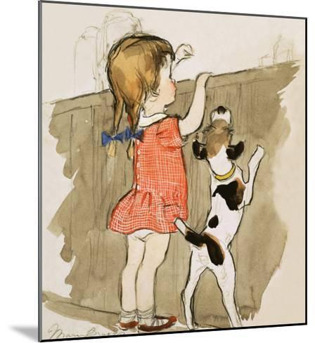 Unidentified Young Girl and Dog-Mary Brook-Mounted Giclee Print