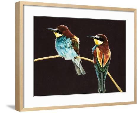 Unidentified Pair of Birds--Framed Art Print