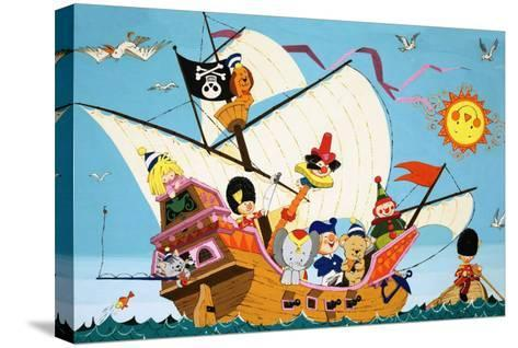 Topsy Turvy Pirate Ship--Stretched Canvas Print