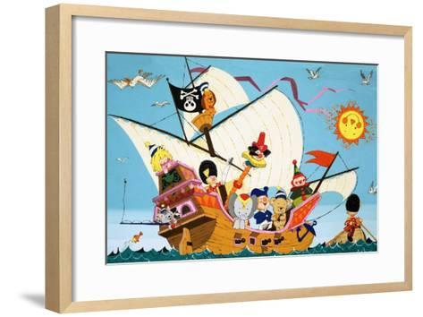 Topsy Turvy Pirate Ship--Framed Art Print