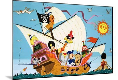Topsy Turvy Pirate Ship--Mounted Giclee Print