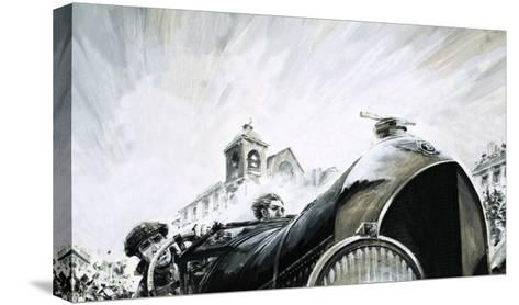 Leslie Pennal, Pioneering Mechanic of the Early Racing Days-Graham Coton-Stretched Canvas Print