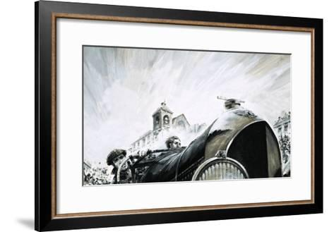 Leslie Pennal, Pioneering Mechanic of the Early Racing Days-Graham Coton-Framed Art Print